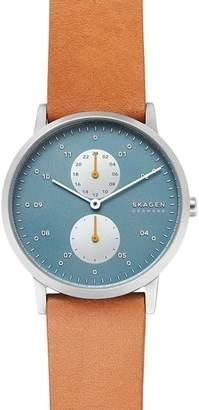 Skagen Kristoffer Tan Leather Strap Watch, 42mm