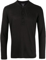 Majestic Filatures henley T-shirt - men - Linen/Flax/Spandex/Elastane - L