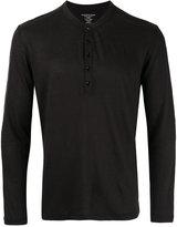 Majestic Filatures henley T-shirt - men - Linen/Flax/Spandex/Elastane - M