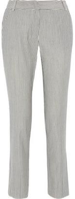 Max Mara Terni Striped Wool-blend Straight-leg Pants