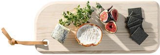 LSA International Ivalo Ash Cheese Board with Leather Toggle