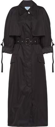 Prada belted nylon gabardine raincoat