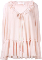 See by Chloe pleated blouse - women - Cotton/Polyester - 38