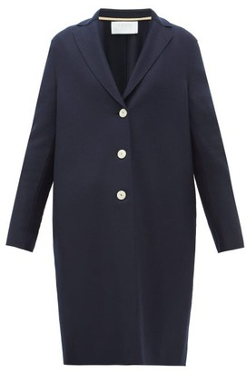 Harris Wharf London Single-breasted Felted-wool Coat - Navy