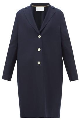 Harris Wharf London Single-breasted Felted-wool Coat - Womens - Navy