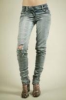 Blue Skinny Destroyed Jeans