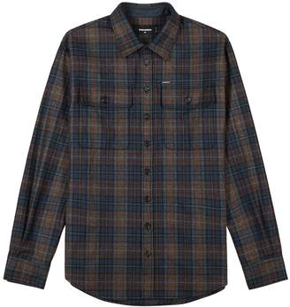 DSQUARED2 Checked Wool-blend Shirt