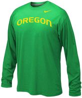 Nike Boys 8-20 Oregon Ducks Legend Wordmark Dri-FIT Long-Sleeve Tee