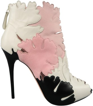 Alexander McQueen \N Pink Leather Boots