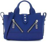 Kenzo Handbag In Blue Rubber Leather