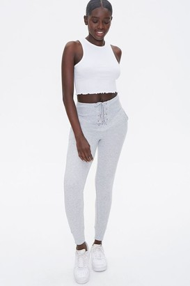 Forever 21 Heathered Lace-Up Joggers