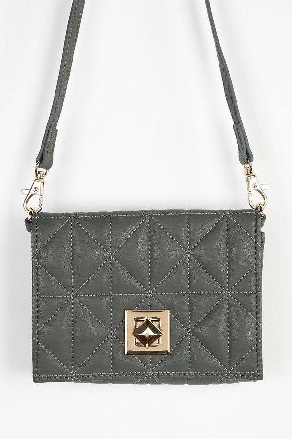 Urban Outfitters Deena & Ozzy Pyramid-Lock Mini Crossbody Bag