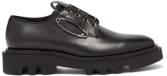 Givenchy Safety-pin Leather Derby Shoes - Black