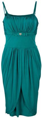 Roberto Cavalli Class by Sage Green Silk Dress M