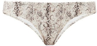 Heidi Klein Zambia Snake-print Bikini Briefs - Beige Multi