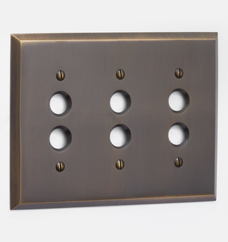 Rejuvenation Lewis Triple Push-Button Switchplate