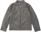 Urban Republic Dark Charcoal Faux Leather Jacket - Boys