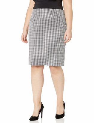 Nine West Women's Pull ON Houndstooth Slim Skirt