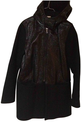 Sandro Black Wool Coat for Women