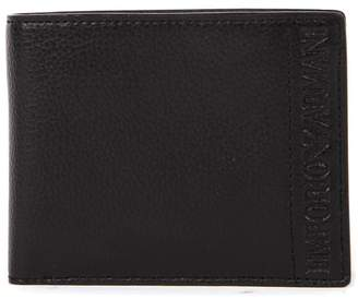 Emporio Armani Black Hammered Faux Leather Wallet