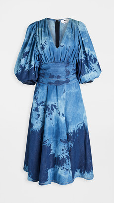 MSGM Denim Midi Dress