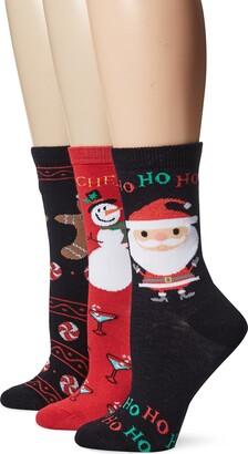 DAVCO 9-11 Women's Novelty Holiday Socks 3-Pack Set
