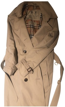 Burberry Camel Cotton Trench coats