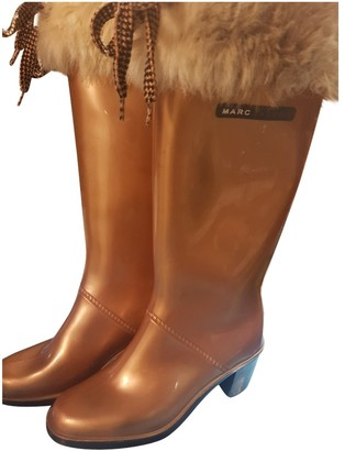 Marc Jacobs Camel Rubber Boots