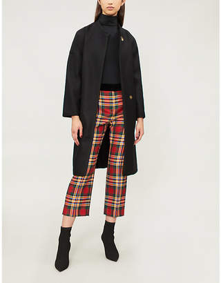 Pinko Barile wool-blend wrap coat