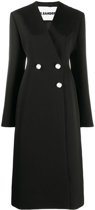 Jil Sander Double-Breasted Mid-Length Coat