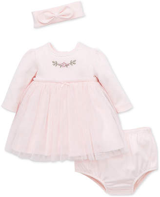 Little Me Baby Girls 2-Pc. Tulle Overlay Dress & Headband Set