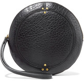Jerome Dreyfuss Popoche O Textured-leather Clutch - Black