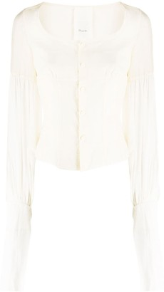 Phaedo Studios Long-Sleeve Corset Blouse