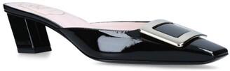 Roger Vivier Patent Leather Belle Vivier Mules 45