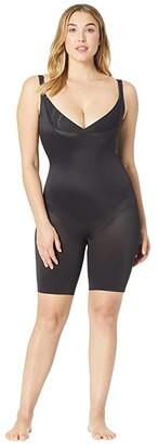 Miraclesuit Shapewear Plus Size Extra Firm Control Torsette Singlette w/ Adjustable Straps (Black) Women's Underwear