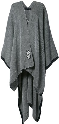 Voz Knitted Draped Cape