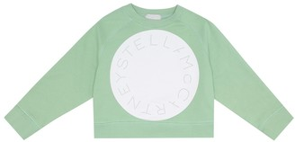 Stella McCartney Kids Logo stretch-cotton sweatshirt