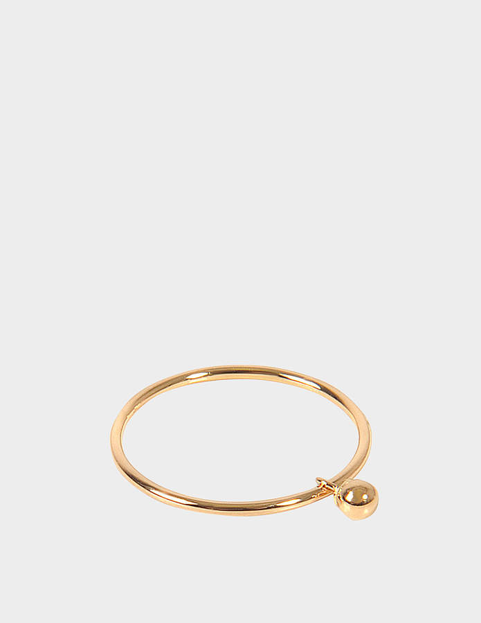 ginette_ny Single Tiny Beads Circle 18-karat rose gold ring