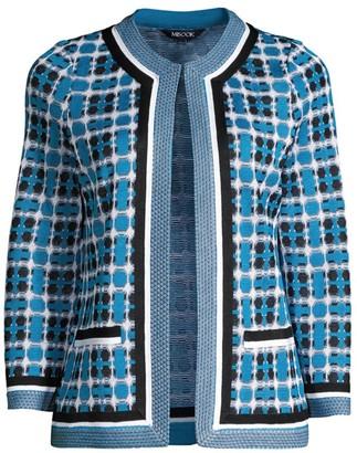 Misook Jacquard-Knit Check Jacket