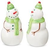 Threshold Salt and Pepper Shaker Set Ceramic Snowmen White