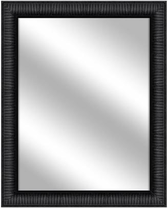 PTM Images Over the sink Vanity Mirror, Wood Grain Black, 26.375x32.375