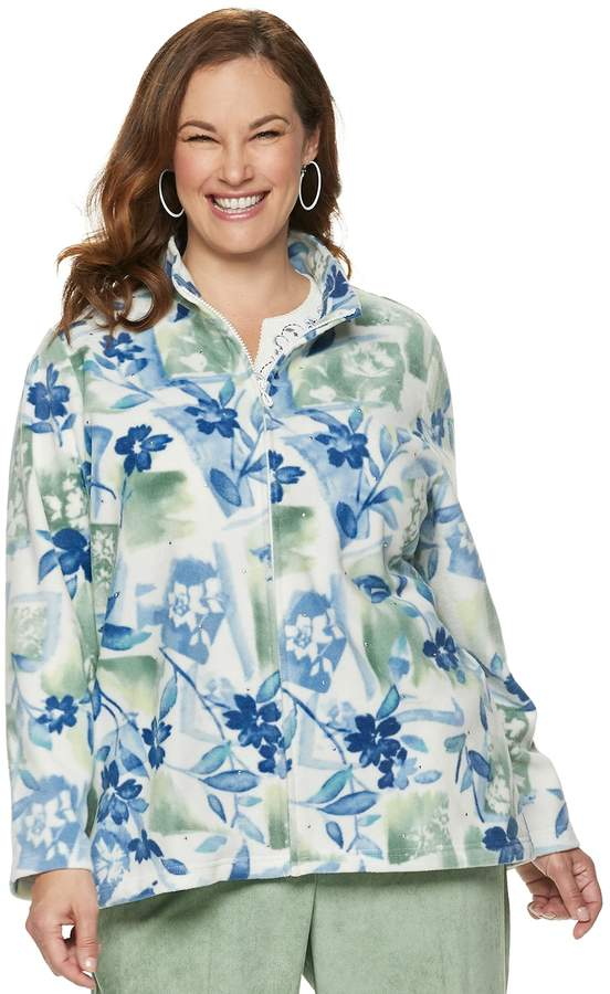 491da163a Plus Size Studio Floral Fleece Jacket
