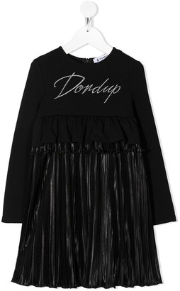 Dondup Kids Pleated Skirt Dress