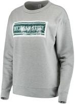 Unbranded Women's ZooZatz Gray Michigan State Spartans Inverse Reversible Sequins Pullover Sweatshirt