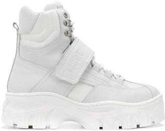 MSGM hi-top platform sneakers