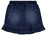 George Frill Hem Denim Skirt