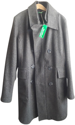 Benetton Anthracite Wool Coats