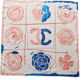 Chanel Pink & Blue Silk Scarf