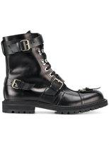 Dries Van Noten multi-strap lace-up boots