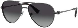 Valentino Metal Aviator Sunglasses
